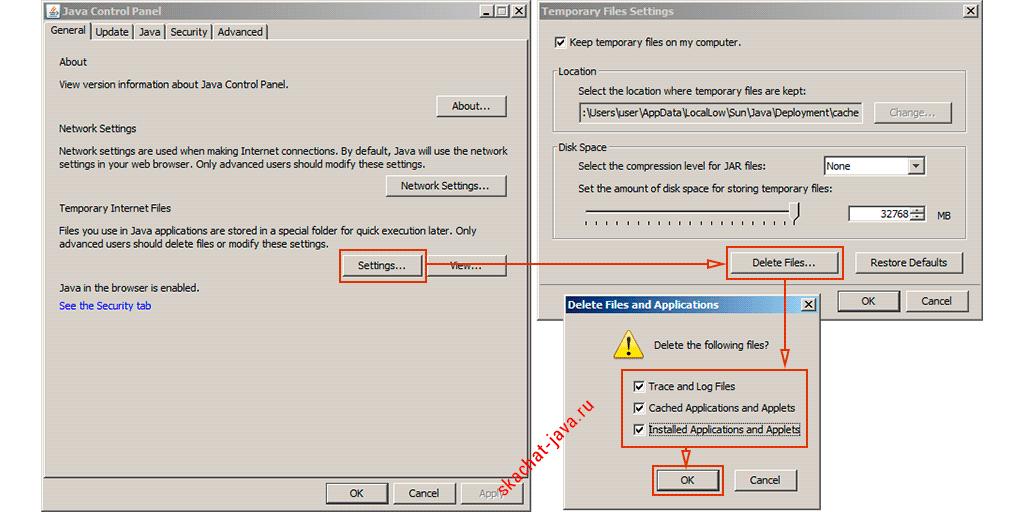 Как очистить кеш Java: очистка кеша приложений